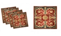"Ambesonne Turkish Pattern Set of 4 Napkins, 18"" x 18"""