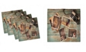 """Ambesonne Collage Set of 4 Napkins, 18"""" x 18"""""""
