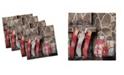"Ambesonne Fireplace Set of 4 Napkins, 18"" x 18"""