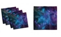 """Ambesonne Outer Space Set of 4 Napkins, 18"""" x 18"""""""