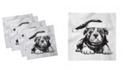 "Ambesonne Bulldog Set of 4 Napkins, 18"" x 18"""