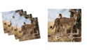 "Ambesonne Africa Set of 4 Napkins, 18"" x 18"""