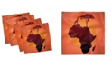 """Ambesonne African Set of 4 Napkins, 18"""" x 18"""""""
