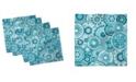 "Ambesonne Aqua Set of 4 Napkins, 18"" x 18"""