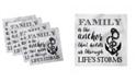 "Ambesonne Family Set of 4 Napkins, 18"" x 18"""