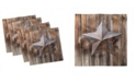 """Ambesonne Primitive Country Set of 4 Napkins, 18"""" x 18"""""""