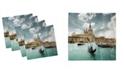 "Ambesonne Venice Set of 4 Napkins, 18"" x 18"""