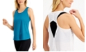 Ideology Shadow-Striped Diamond-Back Tank Top, Created for Macy's