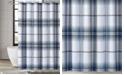 "London Fog Nolan Houndstooth Stripe Shower Curtain, 72"" x 72"""