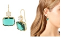 """Jessica Simpson Mixed Stone Double Drop Earrings, 1.25"""""""