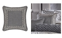 """J Queen New York Tribeca 18"""" Square Embellished Decorative Throw Pillow"""