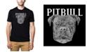 LA Pop Art Men's Premium Word Art T-shirt - Pitbull Face