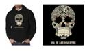 LA Pop Art Men's Dia De Los Muertos Word Art Hooded Sweatshirt