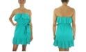 City Studios Juniors' Double-Ruffle A-Line Dress