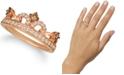 Le Vian Chocolate Diamond (1/6 ct. t.w.) & Nude Diamond (3/8 ct. t.w.) Tiara Ring in 14k Rose Gold