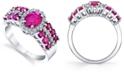 Macy's Ruby (2-1/5 ct. t.w.) & Diamond (1/4 ct. t.w) Statement Ring in 10k White Gold