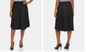 Calvin Klein Pleated A-Line Midi Skirt