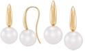 Macy's Cultured Freshwater Ming Pearl (13-14mm) Drop Earrings in 14k Gold