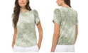 Michael Kors Plus Size Paisley-Print Petal-Sleeve Top