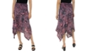 Michael Kors Printed Handkerchief-Hem Skirt, Regular & Petite Sizes