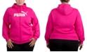Puma Plus Size Zip-Front Fleece Hoodie