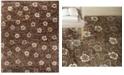 """Martha Stewart Collection Garland MSR3267C Mocha 7'9"""" x 9'9"""" Area Rug"""