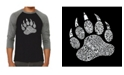 LA Pop Art Types of Bears Men's Raglan Word Art T-shirt