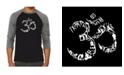 LA Pop Art The Om Symbol Out of Yoga Poses Men's Raglan Word Art T-shirt