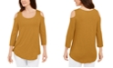 JM Collection Cold-Shoulder Top, Created for Macy's