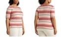 Lauren Ralph Lauren Plus Size Classic Striped Top