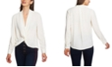 1.STATE Twist-Front Blouse