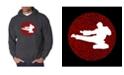 LA Pop Art Men's Word Art Hooded Sweatshirt - Types of Martial Arts