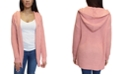 Crave Fame Juniors Hooded Knit Cardigan