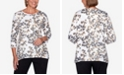 Alfred Dunner Women's Plus Size Catwalk Animal Print Knit Top