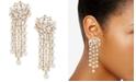 Anne Klein Gold-Tone Imitation Pearl Tassel Linear Earrings
