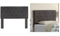 Furniture of America Verin Twin Tufted Adjustable Headboard