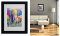"Trademark Global Richard Wallich 'Elephant 1' Matted Framed Art - 14"" x 11"" x 0.5"""