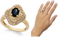 Macy's Sapphire (9/10 ct. t.w.) and Diamond (1/2 ct. t.w.) Ring in 14k Gold