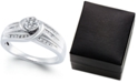 Promised Love Diamond Swirl Promise Ring (1/4 ct. t.w.) in Sterling Silver