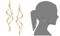 Italian Gold Double Twist Drop Earrings in 14k Gold