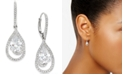 Eliot Danori Silver-Tone Crystal Teardrop and Pavé Drop Earrings, Created for Macy's