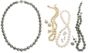 Macy's Tahitian Multi-Color Pearl (9-11mm) Strand Necklace in 14k White Gold
