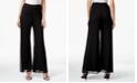 MSK Mesh Wide-Leg Dress Pants