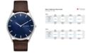 Skagen Men's Holst Brown Leather Strap Watch 40mm SKW6237
