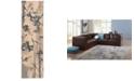 "Nourison CLOSEOUT! Somerset Ivory/Blue Art Flower 2' x 5'9"" Runner Rug"