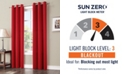 "Sun Zero Preston 40"" x 63"" Grommet Top Blackout Curtain Panel"