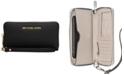 Michael Kors Saffiano Jet Set Travel Flat Multifunction Wallet