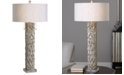 Uttermost Silver Bamboo Buffet Table Lamp