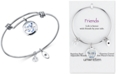 Unwritten Bird Charm Bangle Bracelet in Stainless Steel with Silver Plated Charms