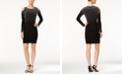XSCAPE Cold-Shoulder Rhinestone Bodycon Dress